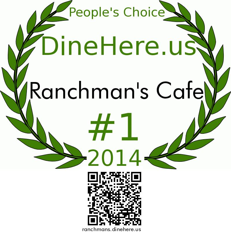 Ranchman's Cafe DineHere.us 2014 Award Winner